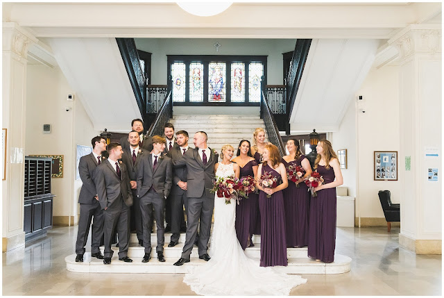 photo of wedding party