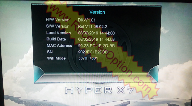 HYPER X7 1507G HD RECEIVER POWERVU KEY NEW SOFTWARE