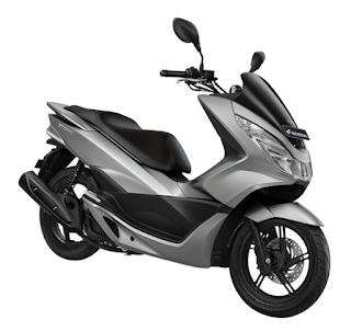 Honda PCX 150 terbaru 2016 silver