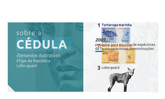Nova cédula de R$ 200 entra em circulação na quarta com a imagem do lobo-guará