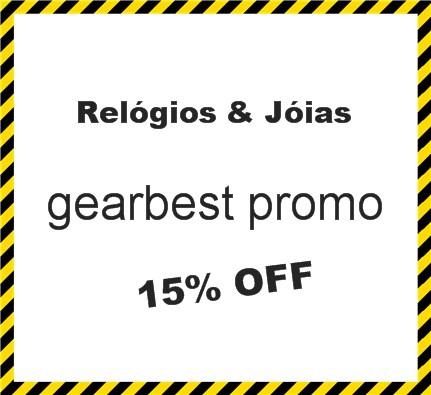 gearbest promo 15% OFF! Relógios & Jóias