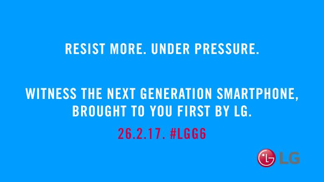 LG G6 sẽ có tính năng chống nước, ra mắt tại MWC 2017