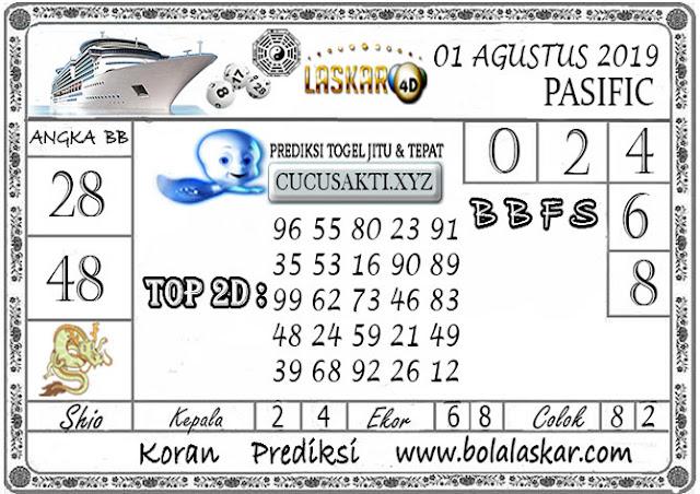 Prediksi Togel Jitu PASIFIC LASKAR4D 01 AGUSTUS 2019