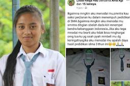 Tak Ingin Mencoret-coret Seragam Sekolahnya saat Kelulusan, Siswi SMA Beri Pesan Menohok