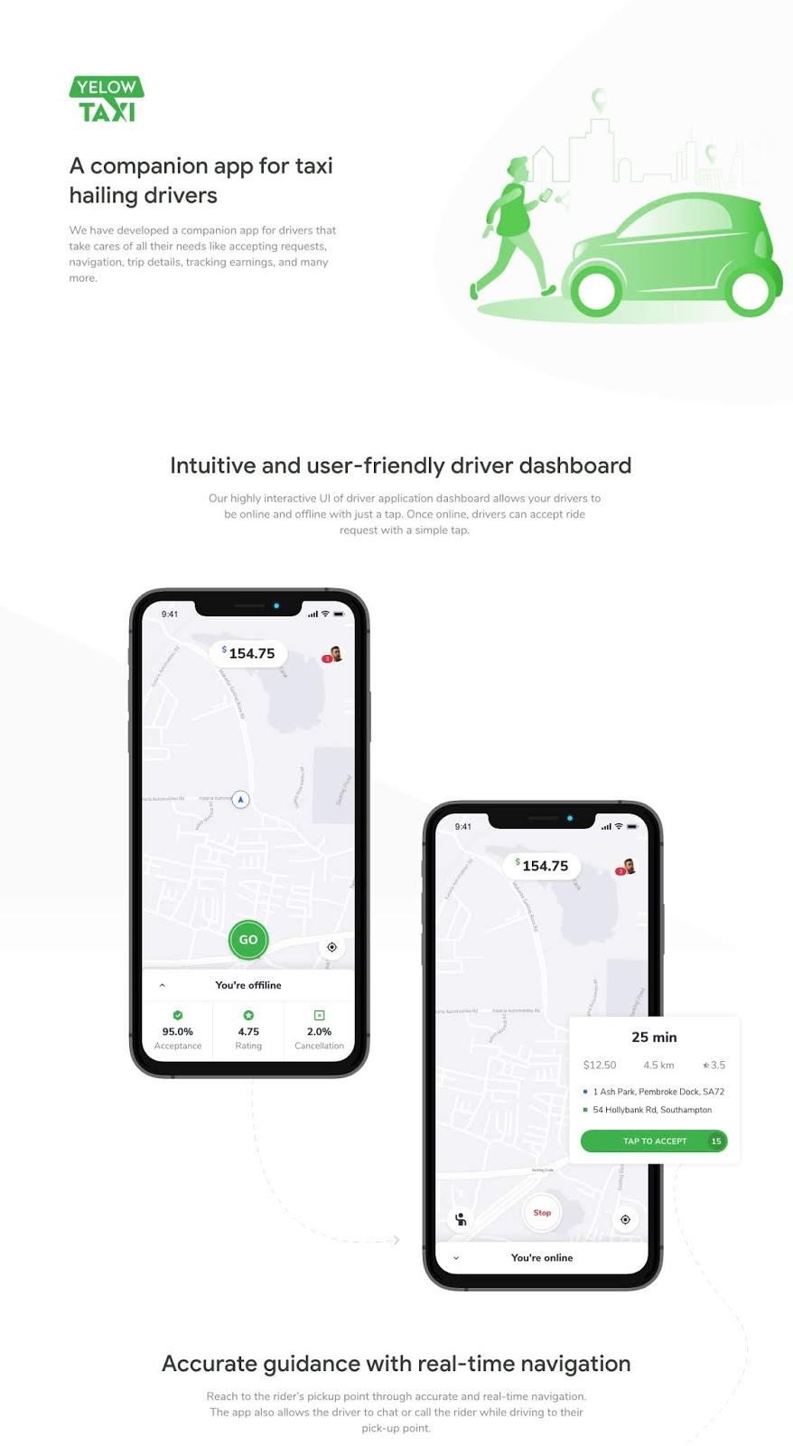 Uber like Taxi Taxi App UI Design Free Download - eFreePik