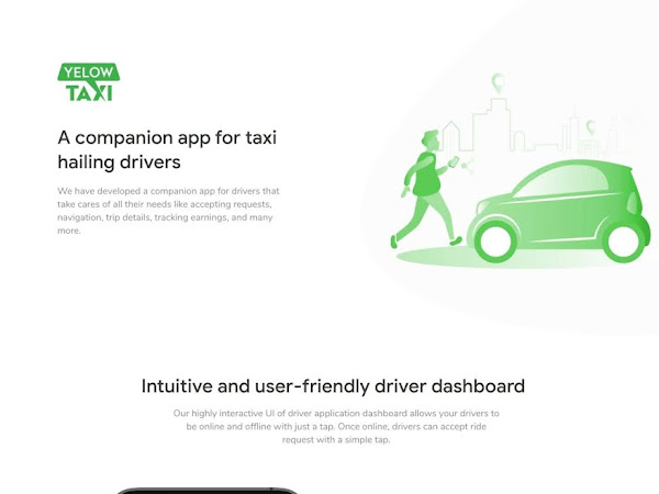 Uber like Taxi Taxi App UI Design Free Download