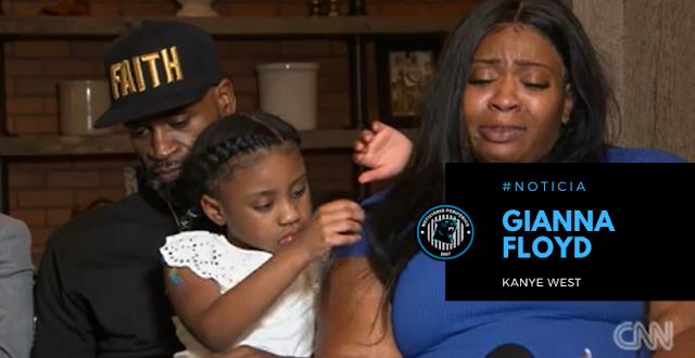 Kanye West pagará a univerdade de Gianna Floyd, filha de George Floyd