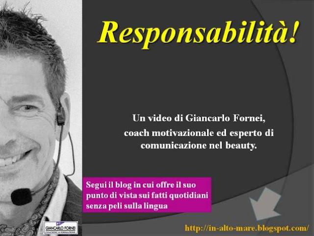 Responsabilità! L'invito del coach Giancarlo Fornei ad un maggior senso di responsabilità!