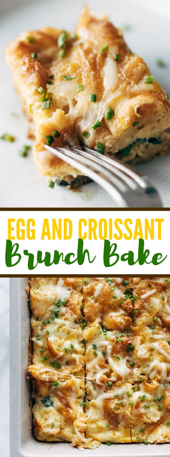 Egg and Croissant Brunch Bake #lunch #breakfast