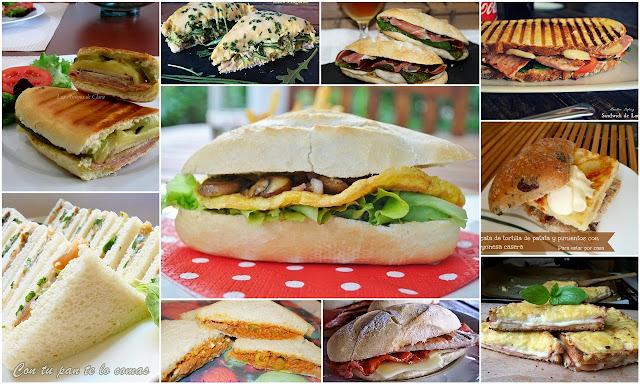 Sándwich y bocadillos. Julia y sus recetas