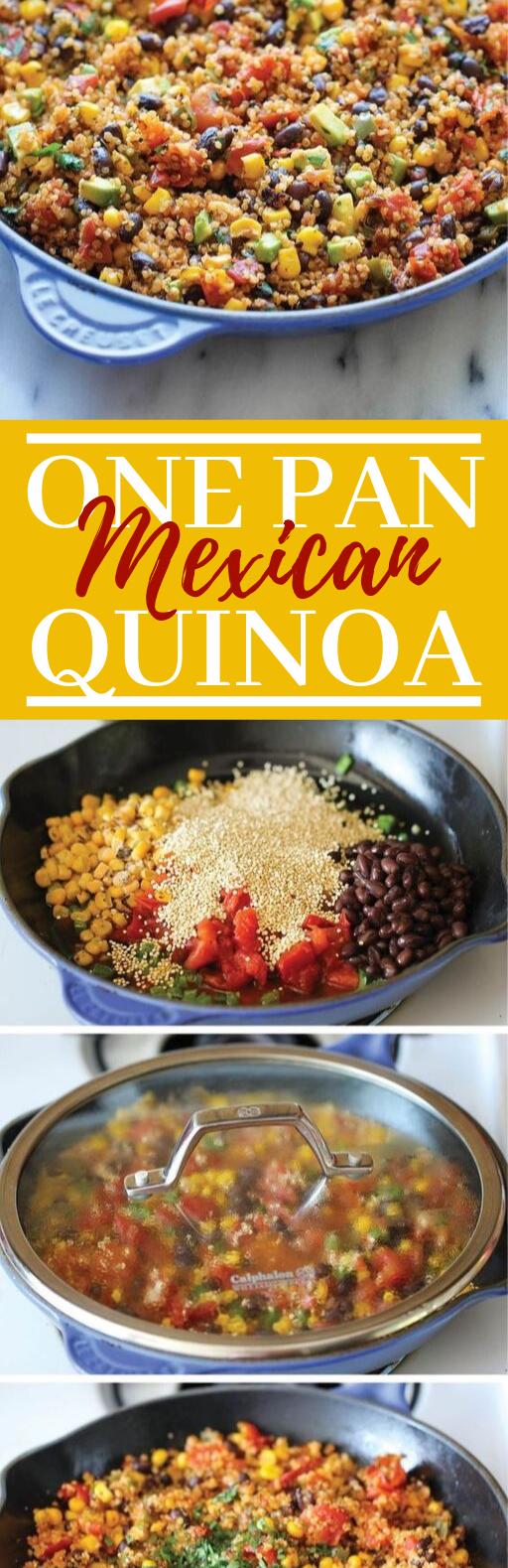 One Pan Mexican Quinoa #vegetarian #healthy