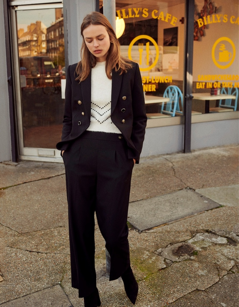 Mango Leather Overshirt, Trousers and Loafers