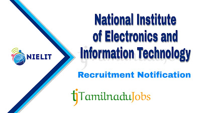 NIELIT recruitment notification 2020, govt jobs in India, govt jobs for engineers, govt jobs for graduates, central govt jobs