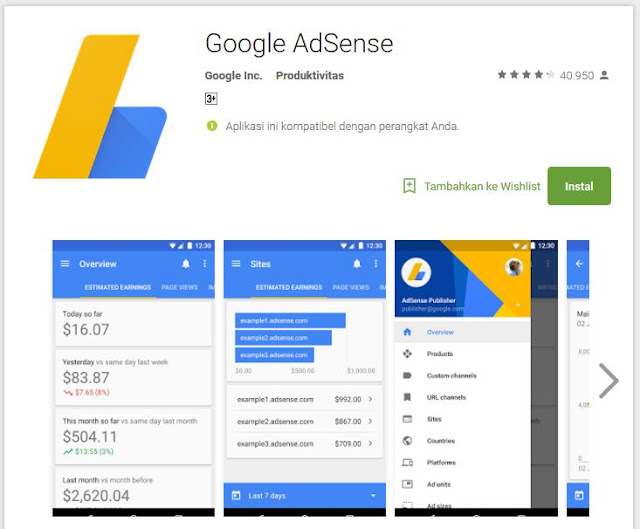 Aplikasi Android Google Adsense