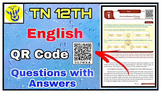 12th English QR Code Questions with Answers | Way To Success Guide