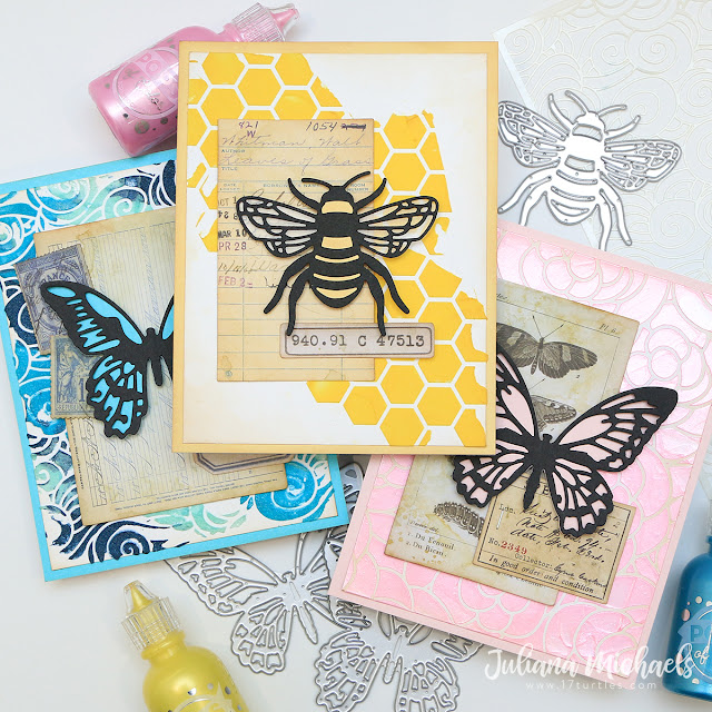 3 Ways to Use Scrapbook.com Pops of Color with Stencils Notecards by Juliana Michaels