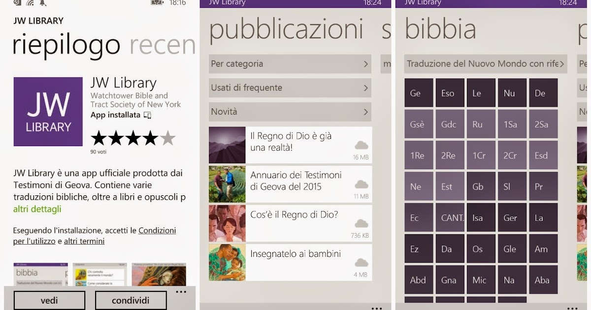 Jw library windows 8 Phone