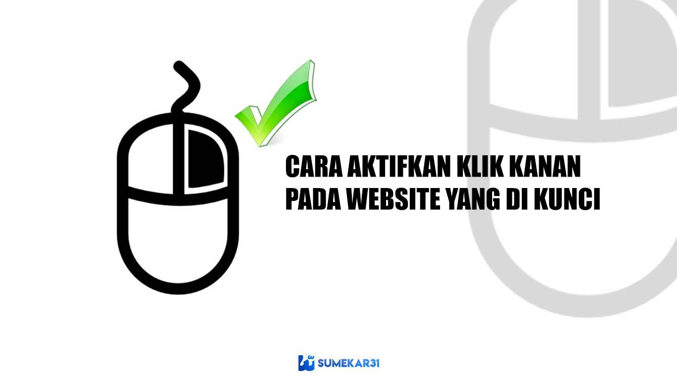 cara copy paste web yang tidak bisa klik kanan