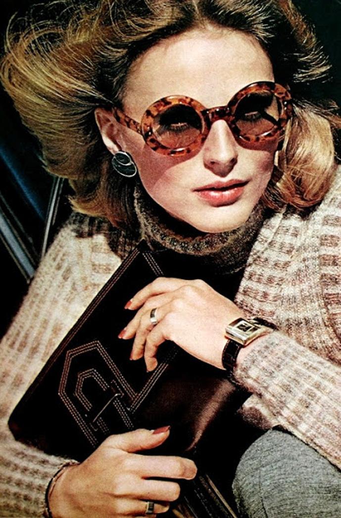 Yves Saint Laurent in Vogue US August 1973 via www.fashionedbylove.co.uk british fashion blog