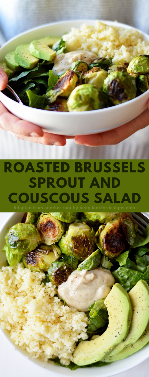 Roasted Brussels Sprout and Couscous Salad