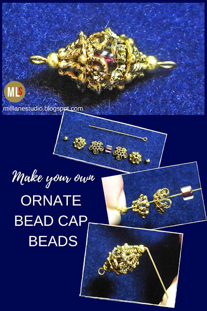 Make your own ornate bead cap beads inspiration sheet