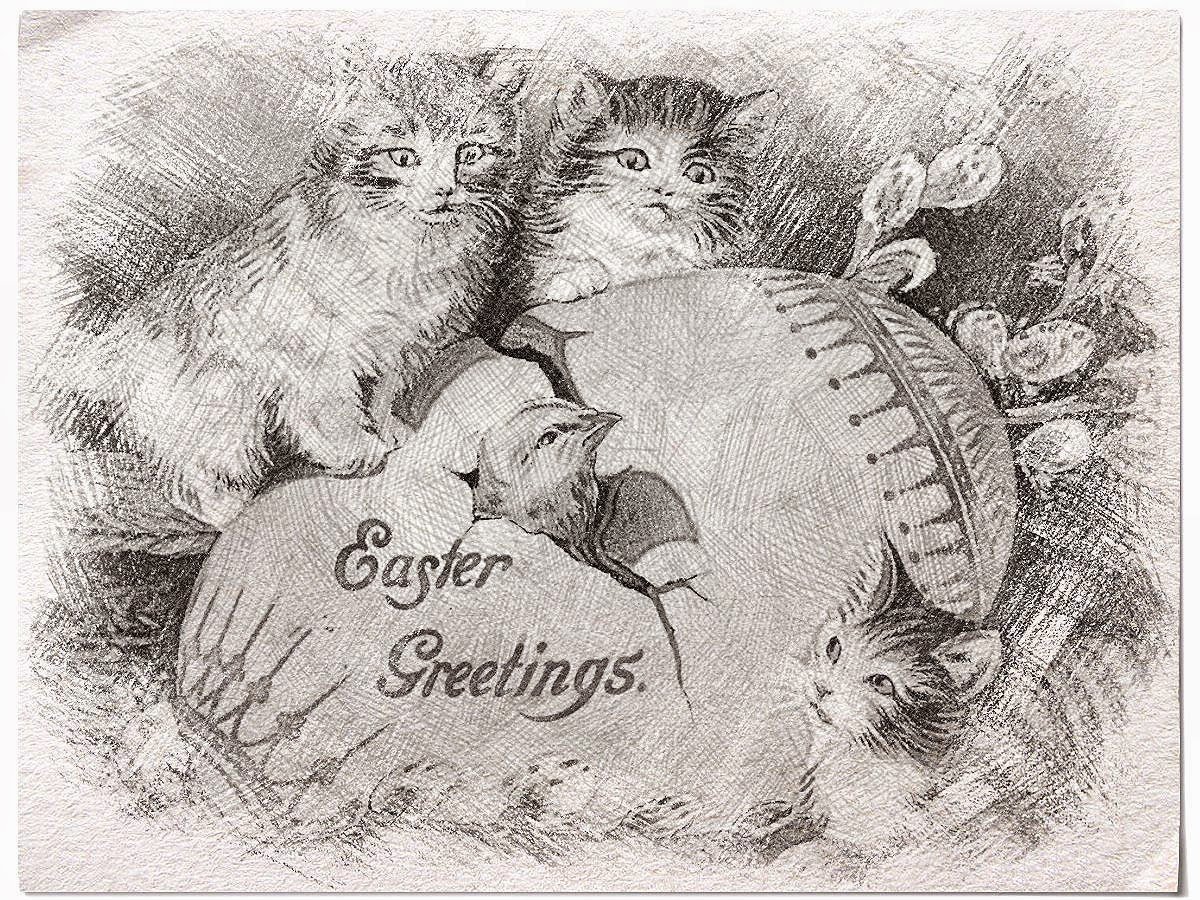 Easter Vintage Sketch Freebie..........