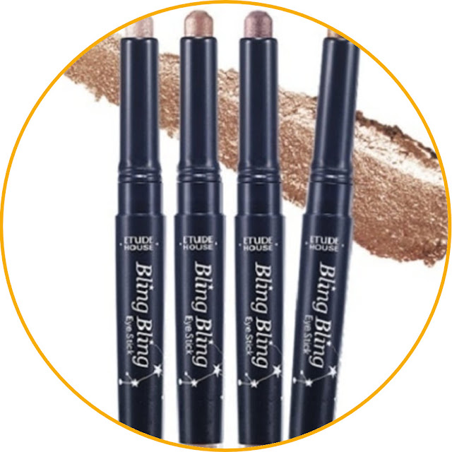 Etude House Bling Bling Eye Stick Easy and practical to carry around. This stick-shaped eyeshadow comes in a variety of vibrant colors that make for a fresh look. Due to its stick shape, this product is very easy to use. You simply rotate the bottom of the pack and the eyeshadow will come to the surface. In addition, you can apply it directly to the eyelid without the need to use a brush.