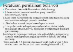 Peraturan Permainan Bola Voli lengkap dan Terbaru Pbvsi