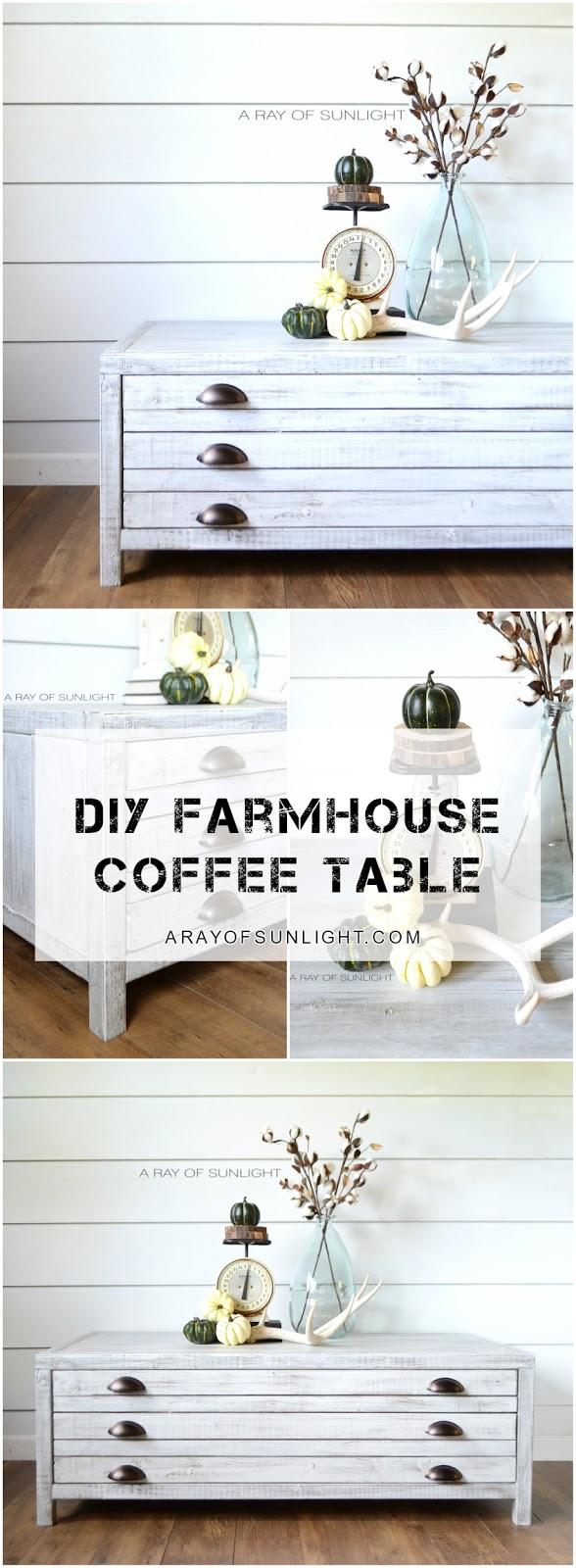 farmhouse industrial coffee table