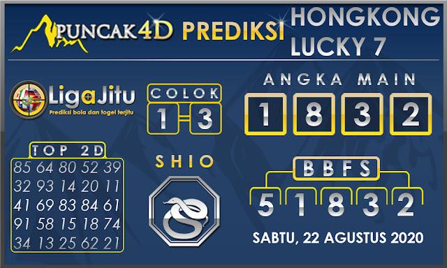 PREDIKSI TOGEL HONGKONG LUCKY7 PUNCAK4D 22 AGUSTUS 2020
