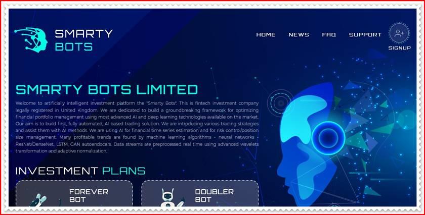 Мошеннический сайт smartybots.io – Отзывы, развод, платит или лохотрон? Мошенники