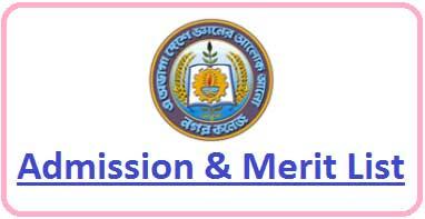 Nagar College Merit List