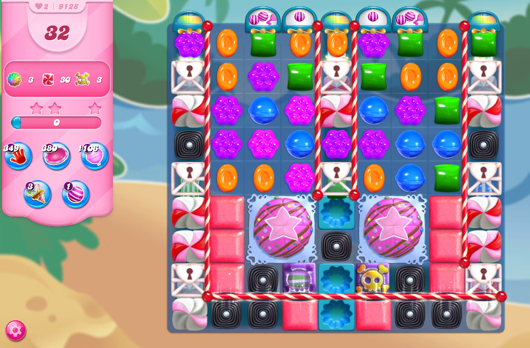 Candy Crush Saga level 9128