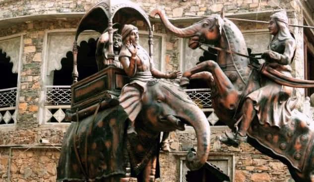 Maharana Pratap and Mansingh fight in Haldighati