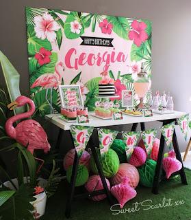 festa simples flamingo