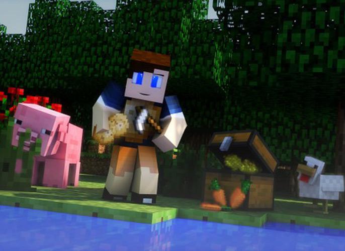 Uma imagem para as meninas que amam jogar Minecraft.