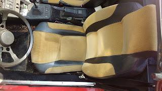 1986 Bertone X 1/9 driver's seat