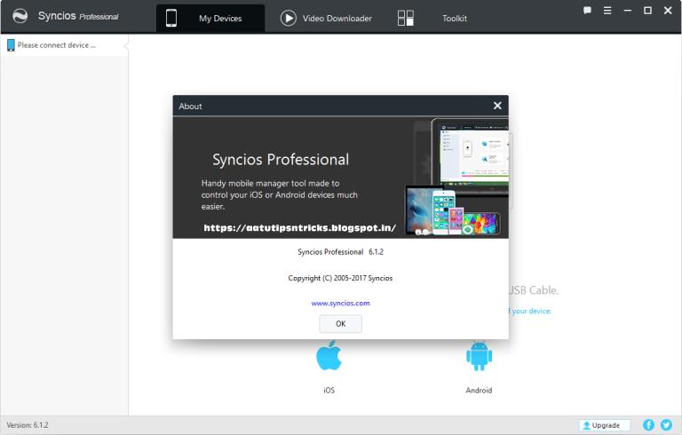 syncios pro activation key
