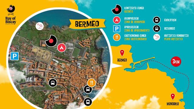 bay, biscay, mundaka, festival, bermeo, mapa, recinto