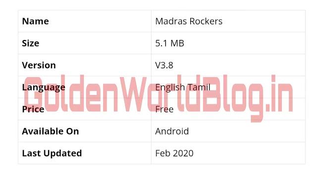 Madrasrockers Website: Madras Rockers 2020, Tamil Movies Full HD Download Free & Telugu Movies on Madrasrockers