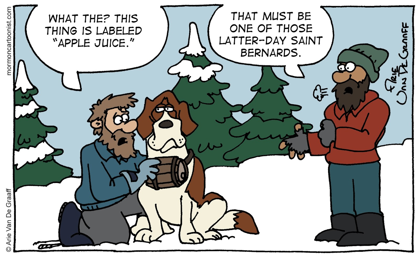 Ward Cartoonist: Latter-day Saint Bernard