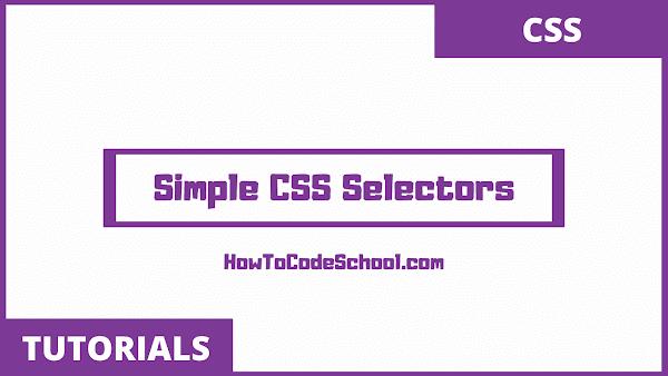 Simple CSS Selectors