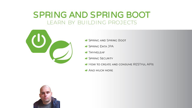 Spring and Spring Boot - Learn by building projects