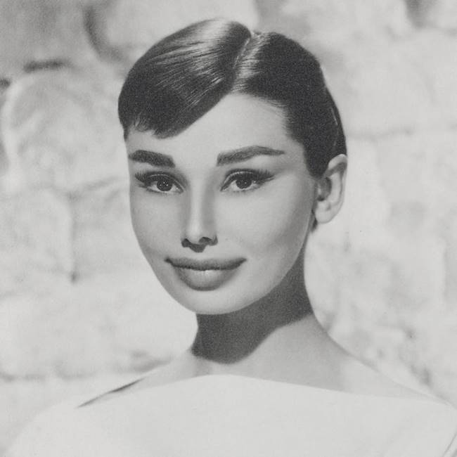 The famous Audrey Hepburn in the original