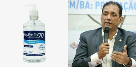 Ilheús: Governo Marão assina contrato de R$ 490 mil para compra de álcool gel em Coaraci