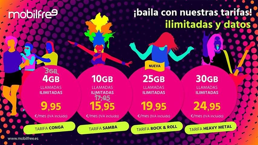 Mobilfree nuevas tarifas Ilimitadas