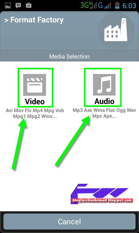 mengubah format video pakai android