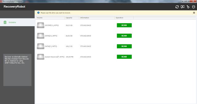 Screenshot RecoveryRobot Undelete 1.3.1 Full Version