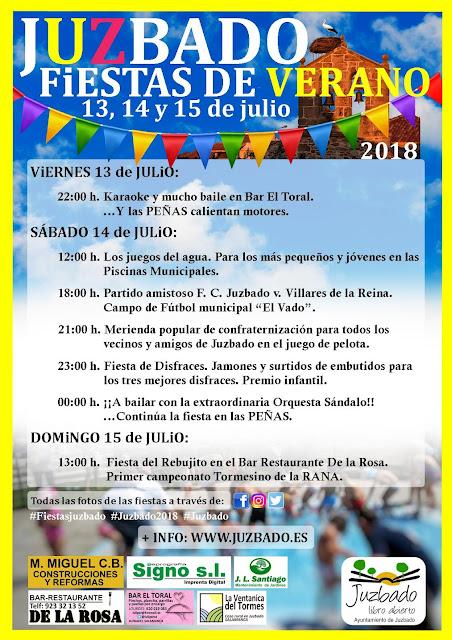 Juzbado, fiestas verano, 2018