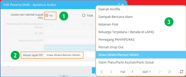gambar Cara Pengisian Kartu Indonesia Pintar (KIP) Pada Aplikasi Dapodik